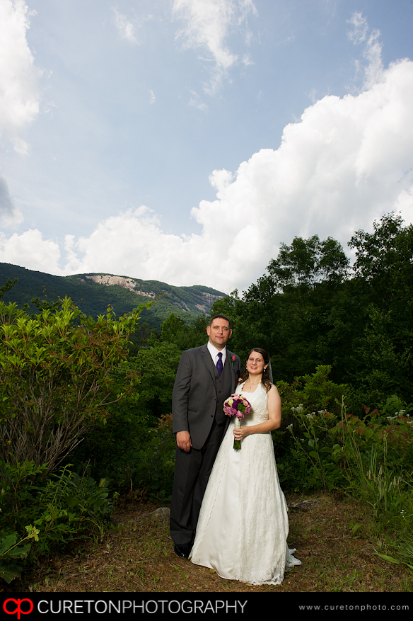 Bride and Groom at Table Rock.