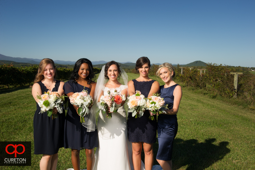 Bridesmaids at Chattooga Belle Farm.