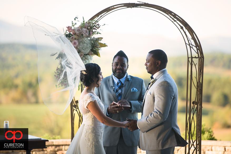 Chattooga Belle Farm Wedding ceremony.