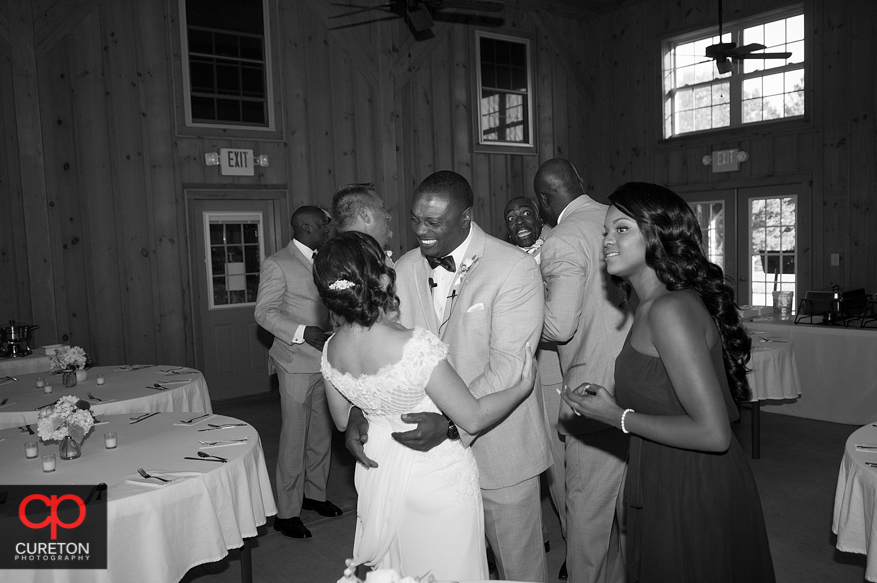 Wedding party after thier Chattooga Belle Farm wedding.
