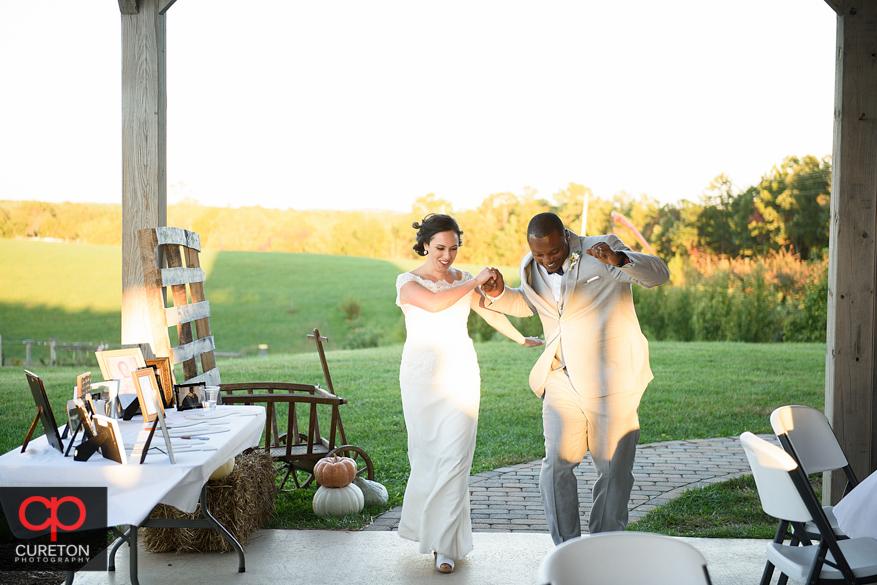 Bride and groom reintroduced.