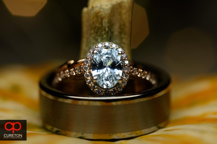 Closeup wedding ring shot.