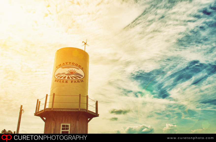 Water tower at Chattooga Belle Farm in Long Creek,SC.