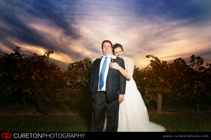 A couple at their reception at Chattooga Belle Farm.
