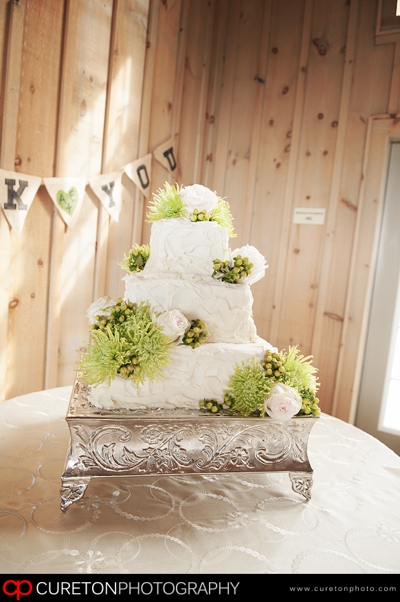 The cake on display at the Clements wedding