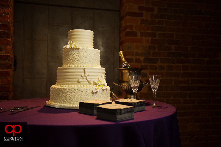 An amazing wedding cake by Kathy and company.