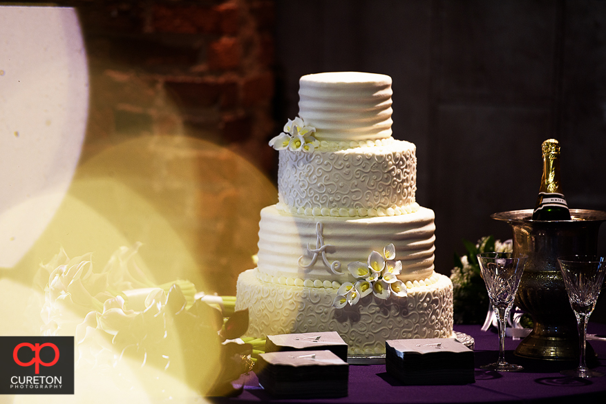 Gorgeous wedding cake by Kathy and Company.