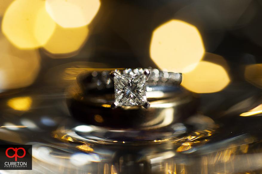 Creative macro wedding ring shot.