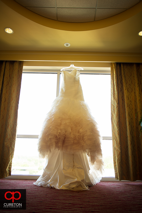 Beautiful Bridal gown in downtown Greenville.