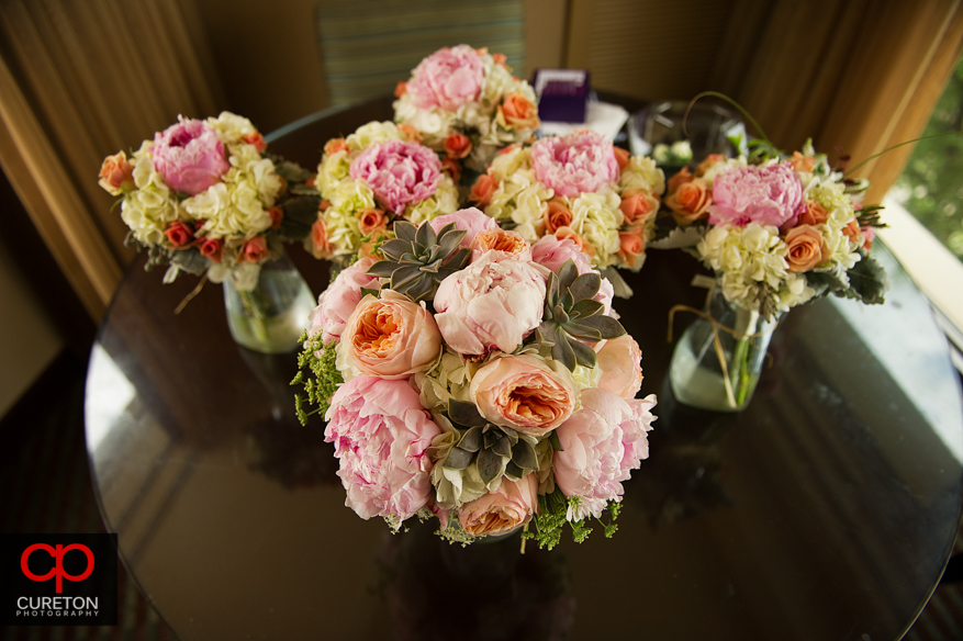 Bride's flowers at the Hyatt.