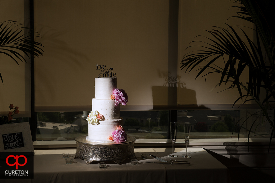 Delicious wedding cake by Holly's Cakes in Greenville,SC.
