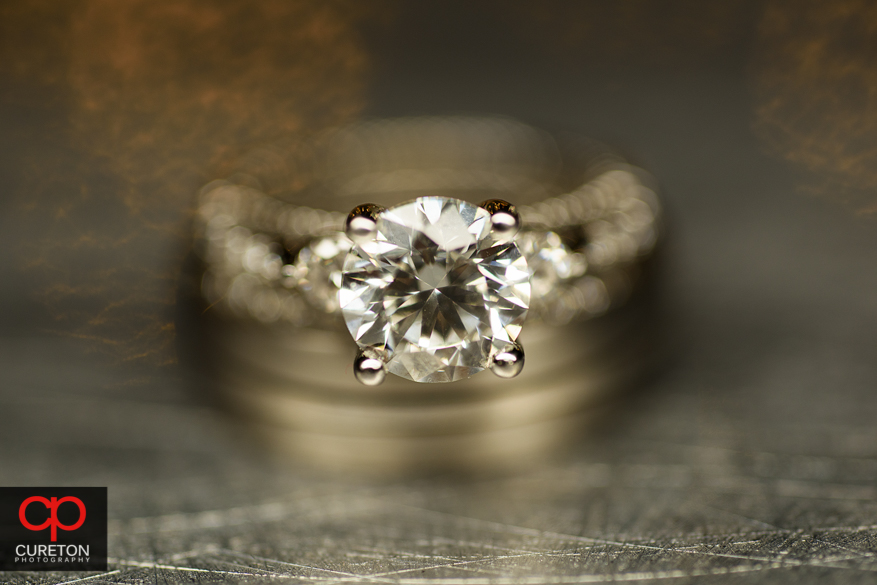 Macro wedding ring photo.