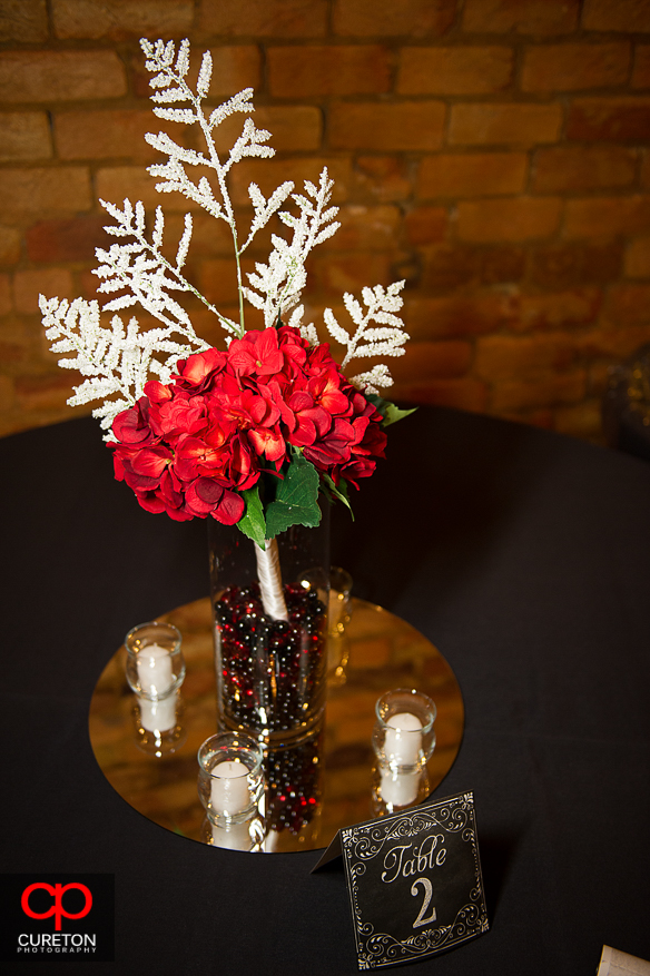 Centerpiece of flowers at The Davenport.