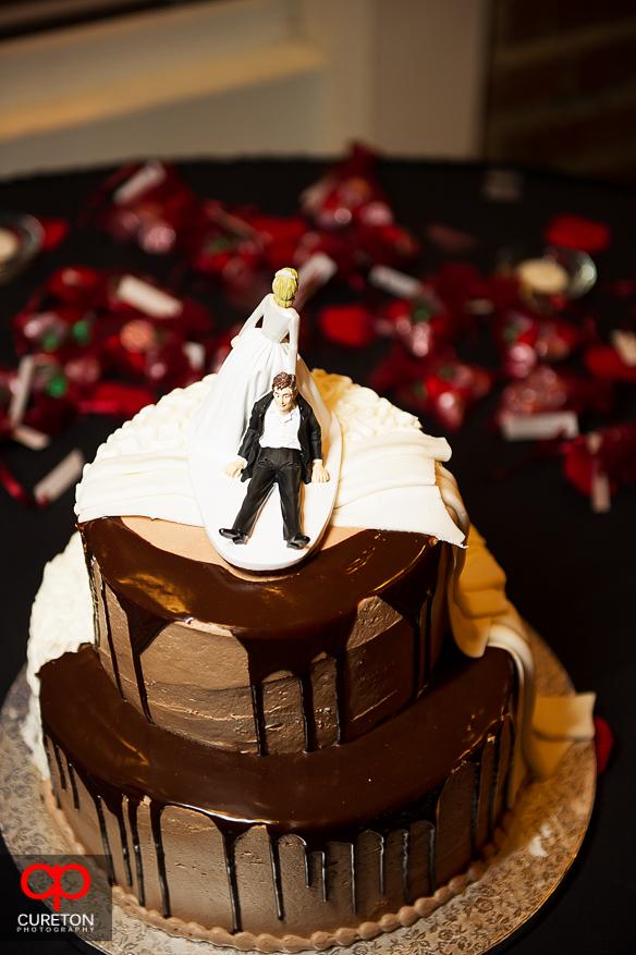 Wedding cake by Publix bakery.