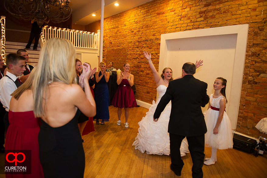 Bride dancing at her reception.
