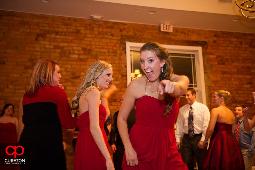 Bridesmaids having a good time.