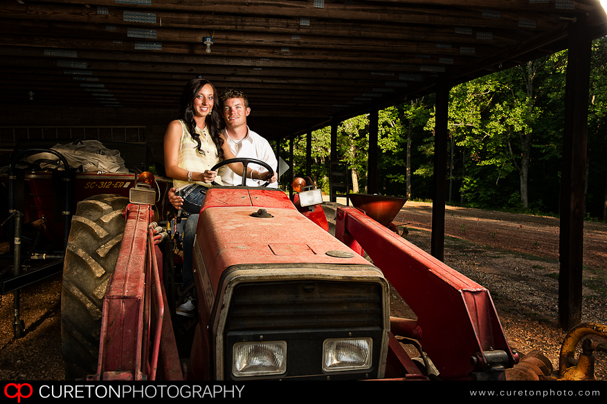 Couple on a tractor.