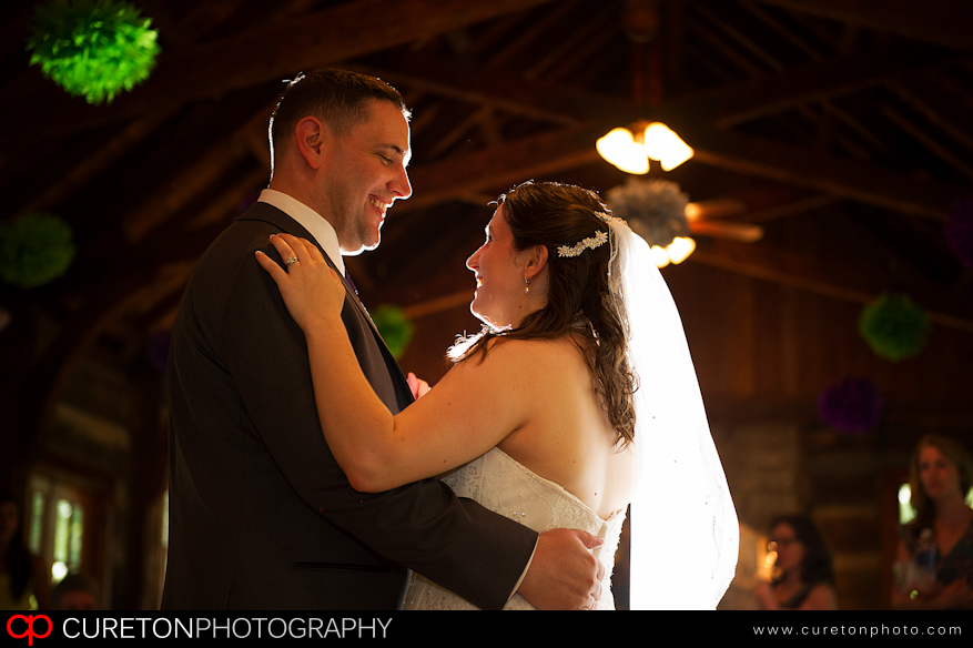 First Dance after the wedding at Table Rock Lodge in SC.