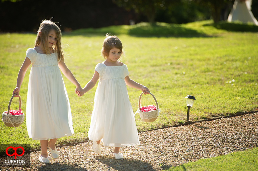 The flower girls making their entrance.