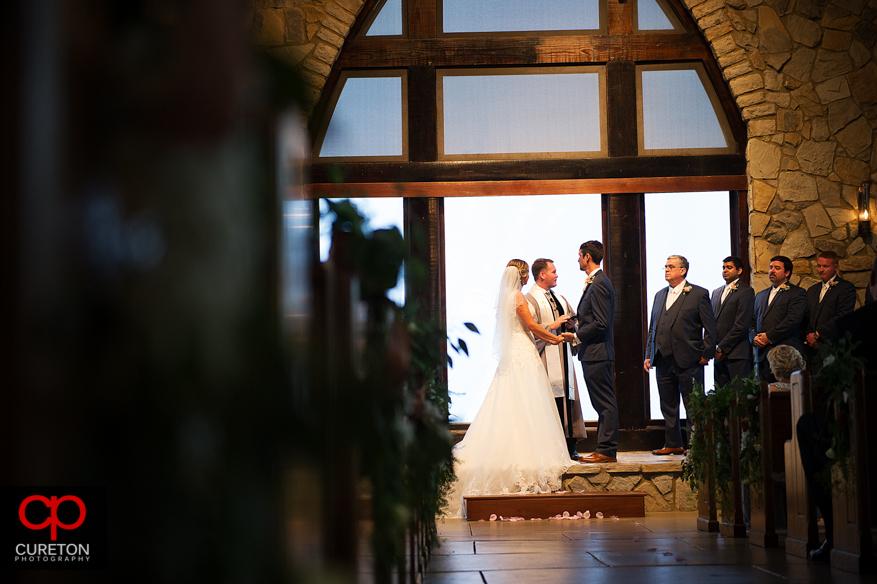 Glassy Chapel wedding ceremony.