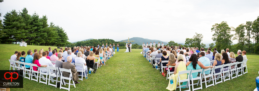 Pano of the Grand Highlands at Bearwallow Mountain wedding.