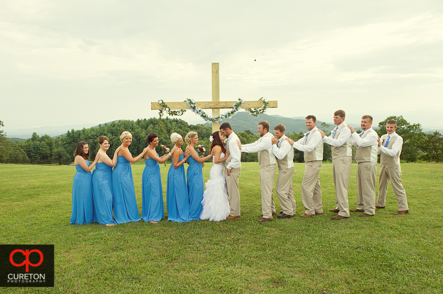 Creative shot of ethic wedding party at Grand Highlands.