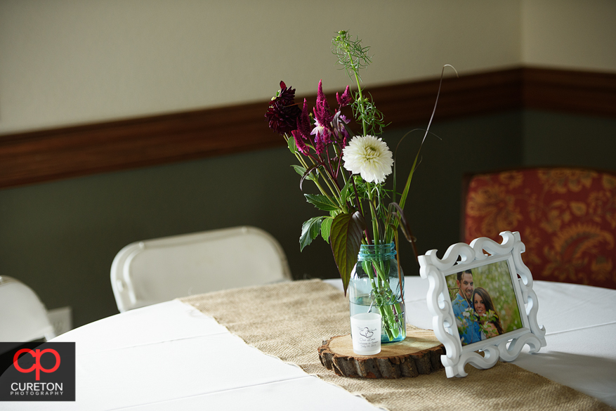 Details of the Grand Highlands wedding reception.
