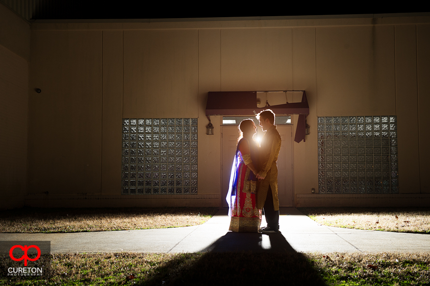 Couple outside the Vedic center in Greencille,SC.