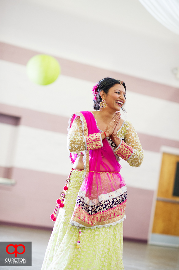 Bride's cousin dancing at the Garba in Greenville,SC.