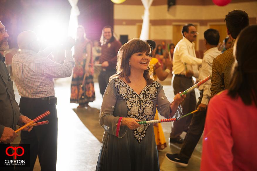 Groom's family dancing at the Garba.
