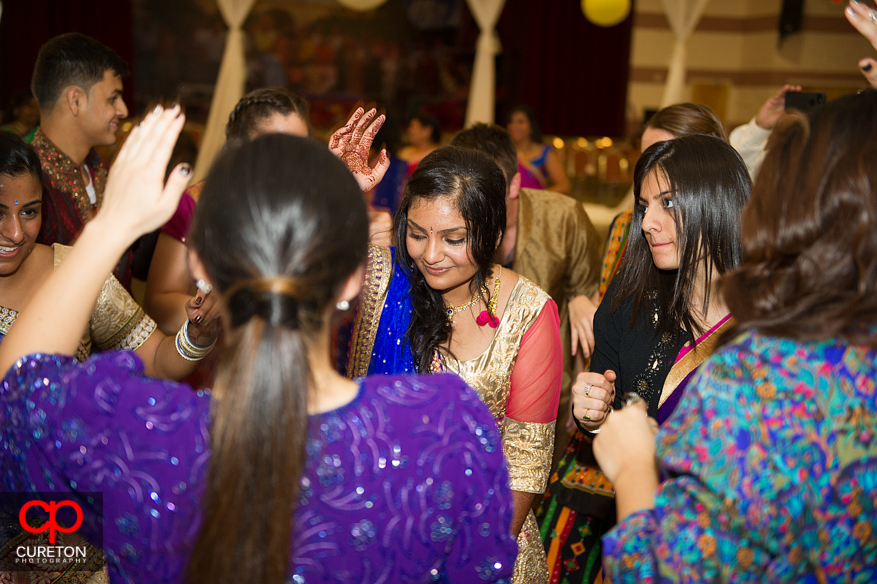 Bride enjoying her Garba Party.