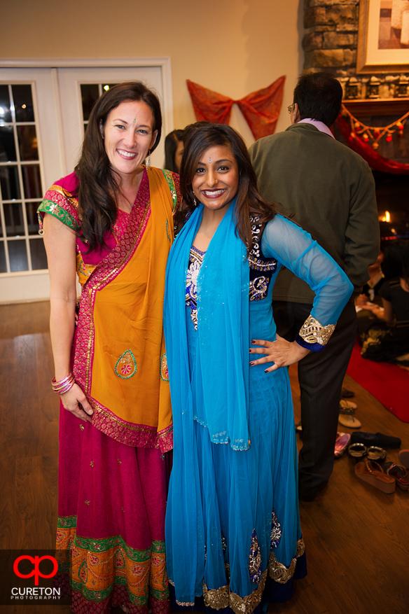Bridesmaids at the Mehndi.