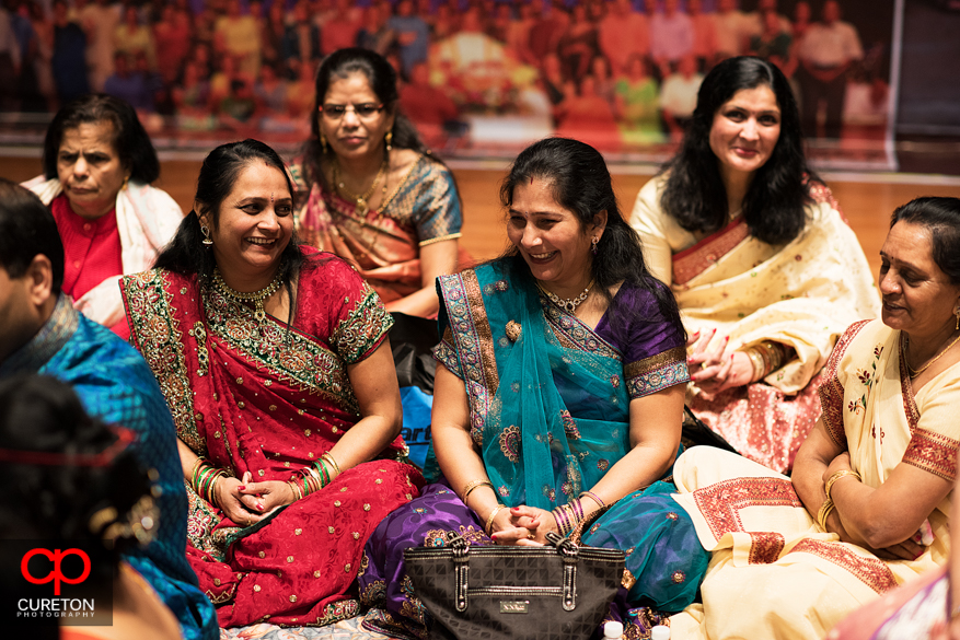 Group of Indian women during the vidhi religious ceremony.