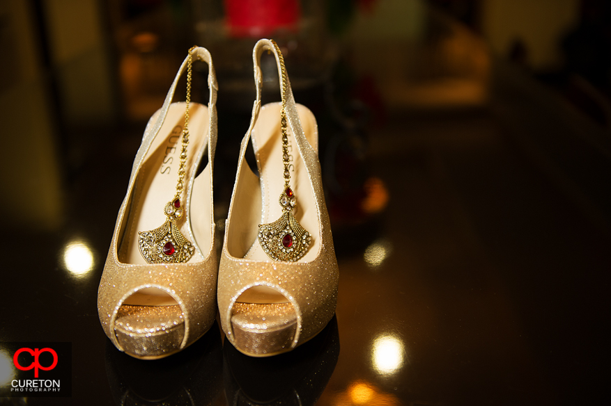 Indian bridal shoes.