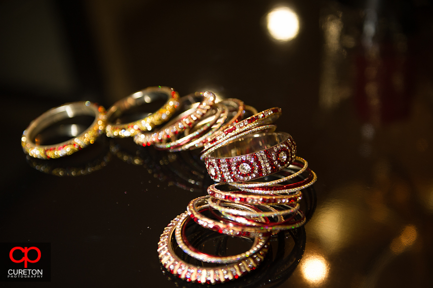 Jewelry to be worn by Indian bride.