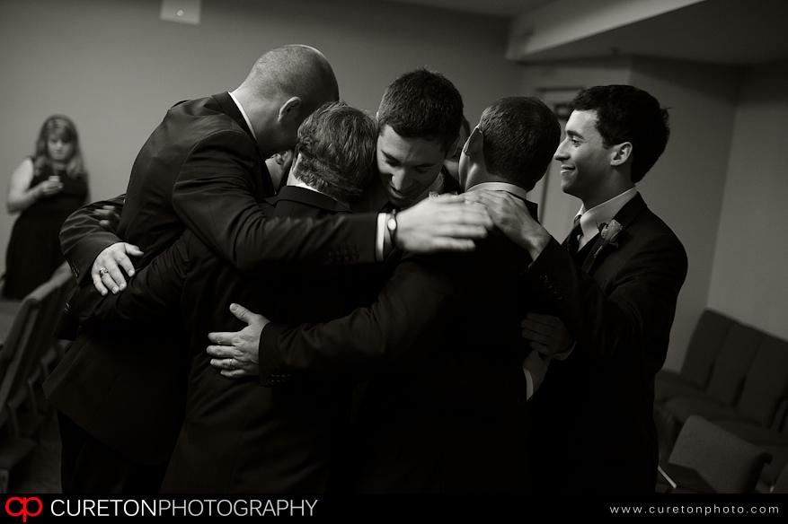 Groomsmen moments before the wedding.