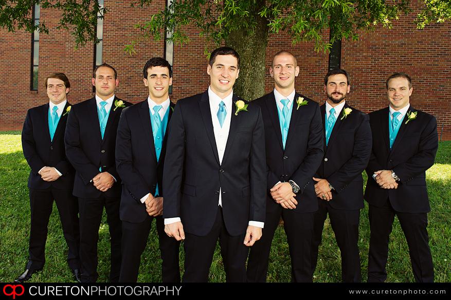 Groomsmen before wedding in Greenville,SC