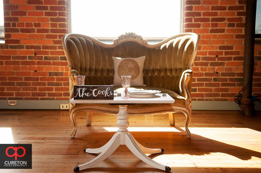 Vintage furniture in the Certus Loft.