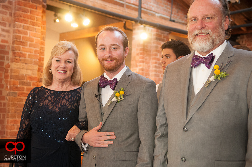 Groom and his parents.