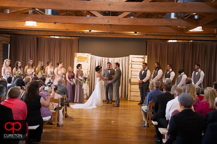 Wedding ceremony at the Certus loft.