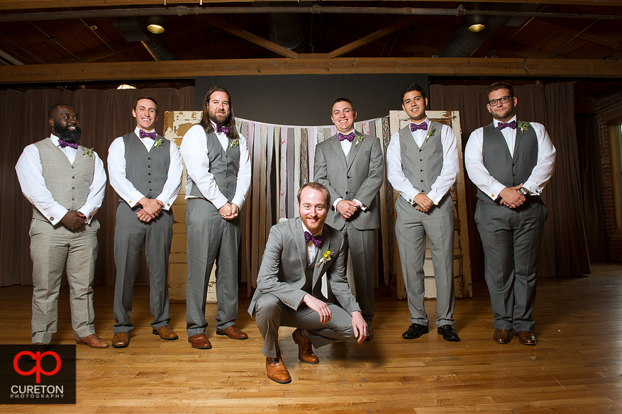 Groom and the groomsmen.