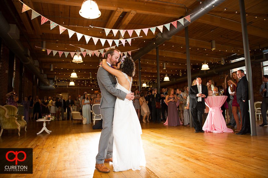 First dance at the Certus Loft reception.