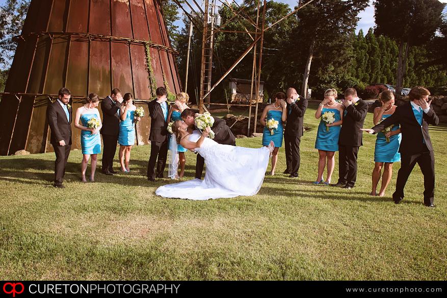 Wedding Party outside Larkin's Sawmill Greenville,SC.
