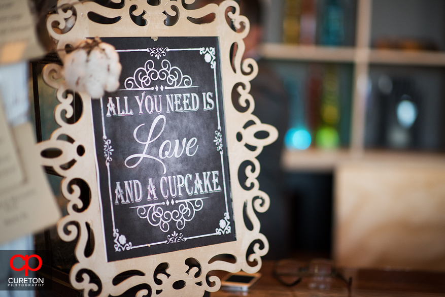 All you need is love wedding sign.