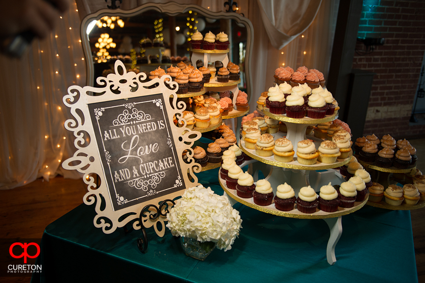 Cupcake bar at The Loom in SImpsonville.
