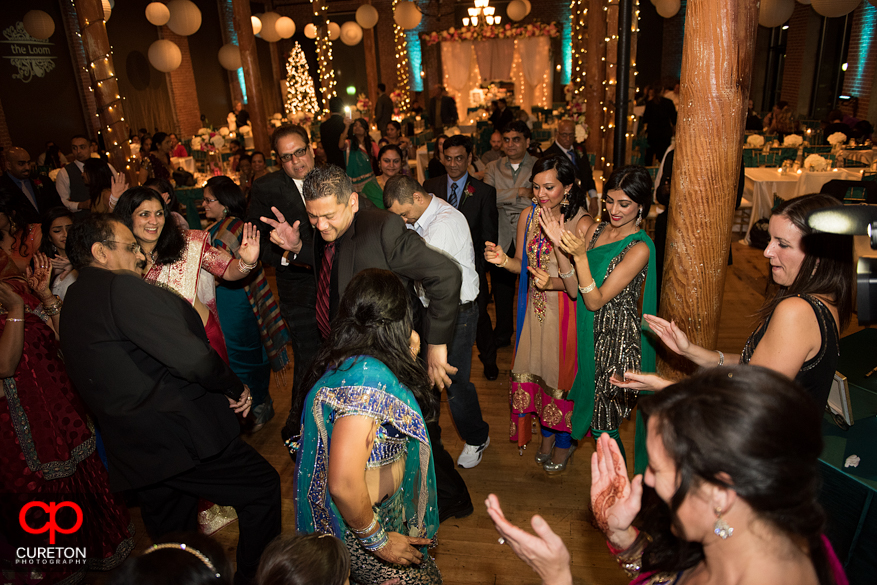 Guest dancing at the reception.
