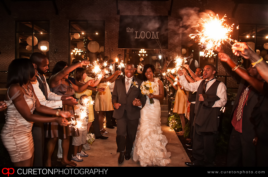 Sparkler reception leave at the Loom in SImpsonville,SC.