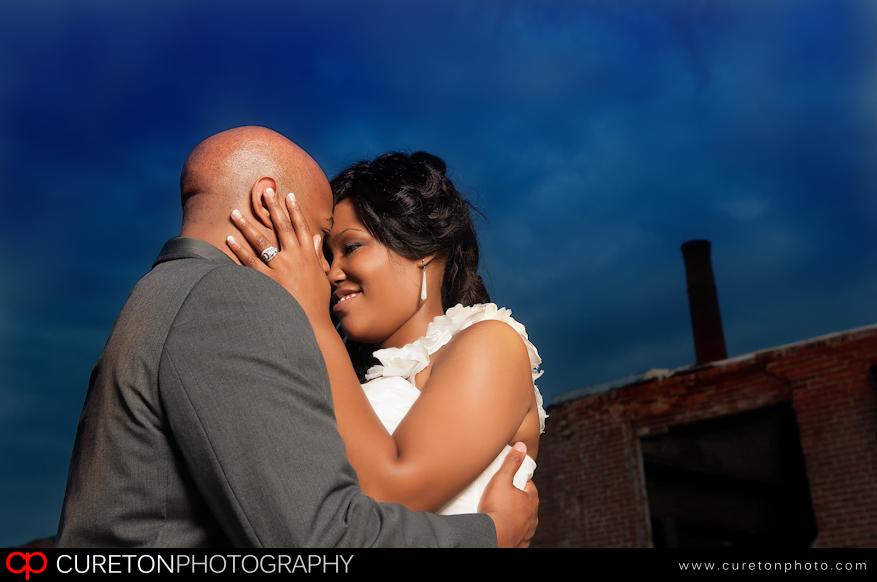 Closeup shot of Talisha and Patrick.