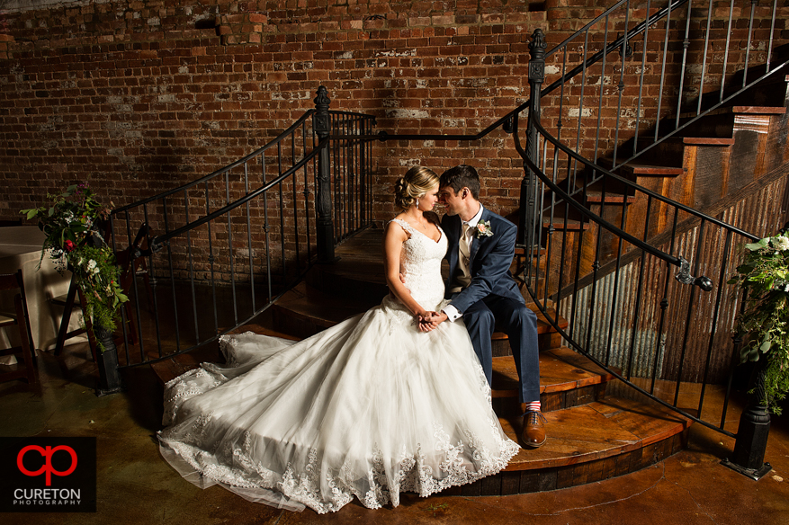 Bride and Groom before their Old Cigar Warehouse reception.
