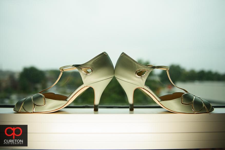The brides shoes.
